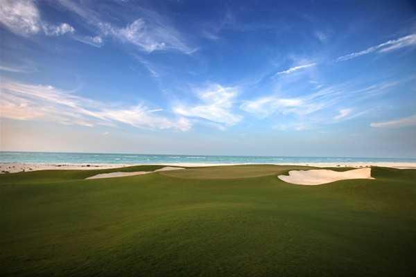 A view from the 6th hole at Saadiyat Beach Golf Club