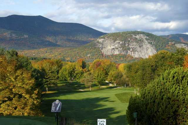 A view of fairway #1 at North Conway Country Club