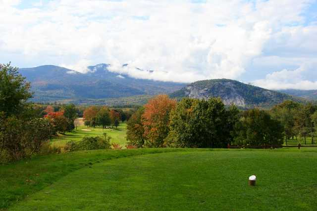 A view from a tee at North Conway Country Club