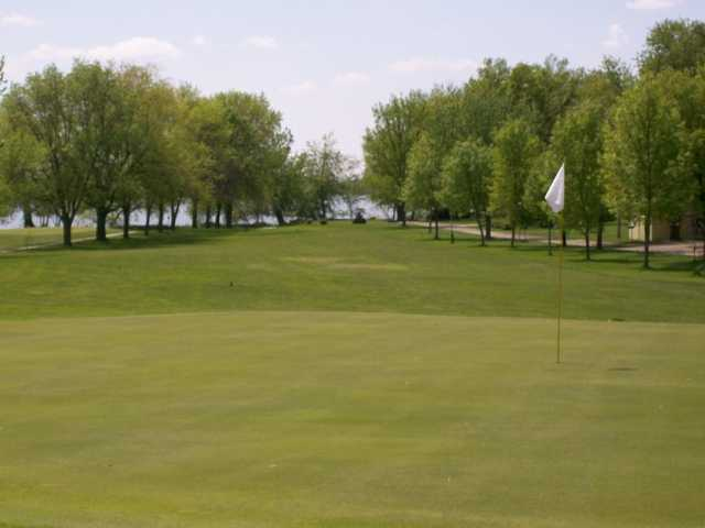 A view of a hole at Twin Lakes Golf Club