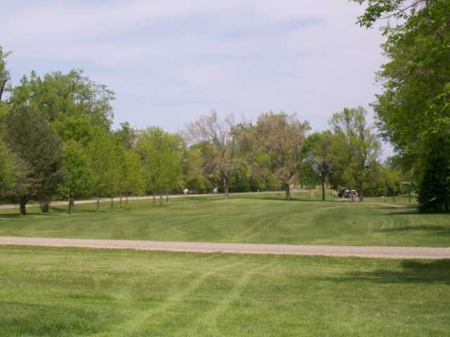 A view of a green at Twin Lakes Golf Club