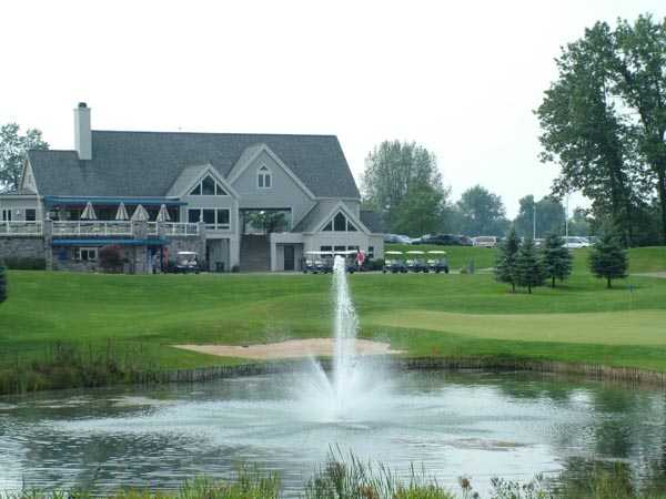 A view of the clubhouse at Medalist Golf Club