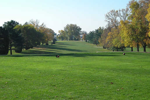 A view from a tee at Waukon Golf & Country Club
