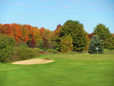 A view of the 4th hole at Antrim Dells Course from A-Ga-Ming Golf Resort
