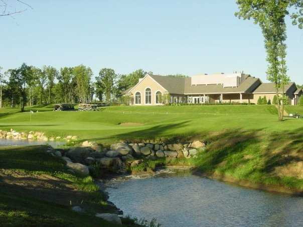 A view of the clubhouse at Coyote Preserve Golf Club