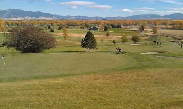 A view of green #12 at Championship from Cottonwood Hills Golf Club