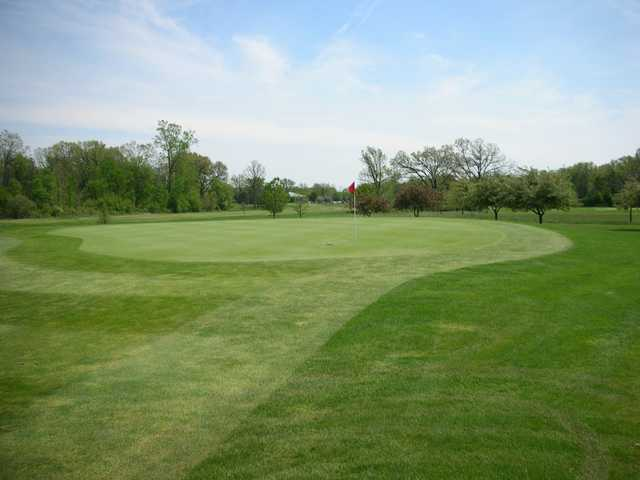 A view of a green at Hudson Mills Metro Park