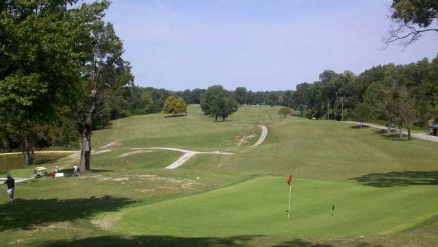 A view of a green at Stearns Heritage Golf Course