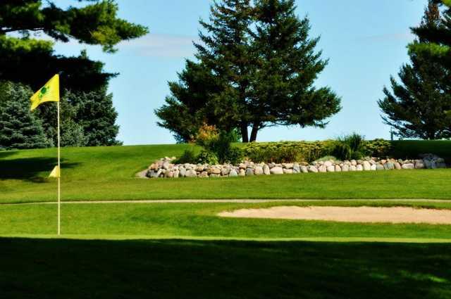 A view of a hole at Thunder Bay Golf Resort