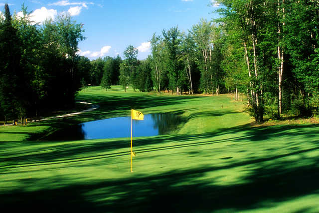 A view of the 17th hole at Thunder Bay Golf Resort