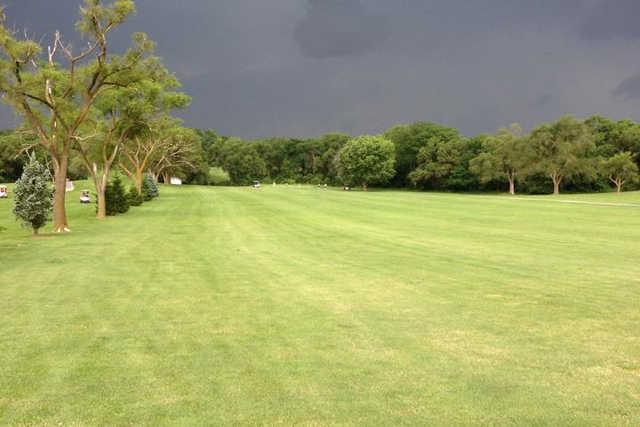 A view of a fairway at Oak Knoll Golf Club