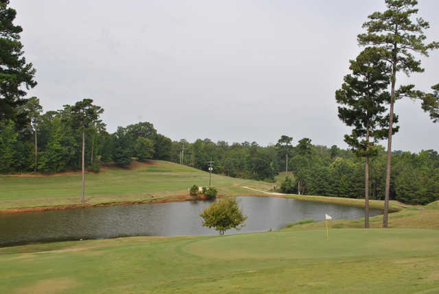 A view of a green at Trails End Golf Course