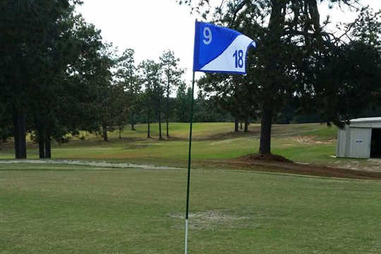 A view from green #9 at Leesville Golf Course
