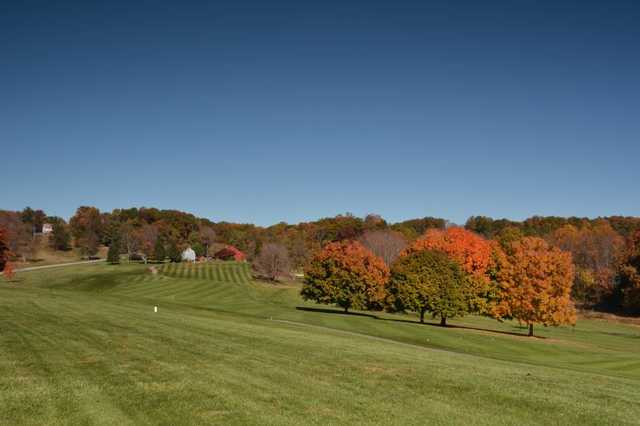 A view of fairway #9 at Winters Run Golf Club