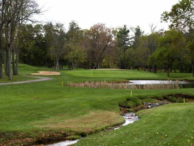 A view of the 11th green at Winters Run Golf Club