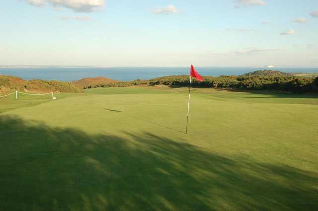View from a green at Isle of Purbeck Golf Club