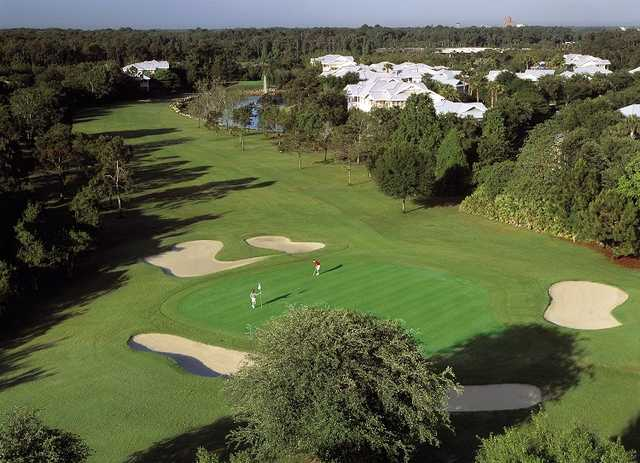 4th green on Disney's Lake Buena Vista course