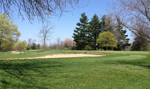A view of a hole at Hills of Lenawee Golf Club & Banquet Center.