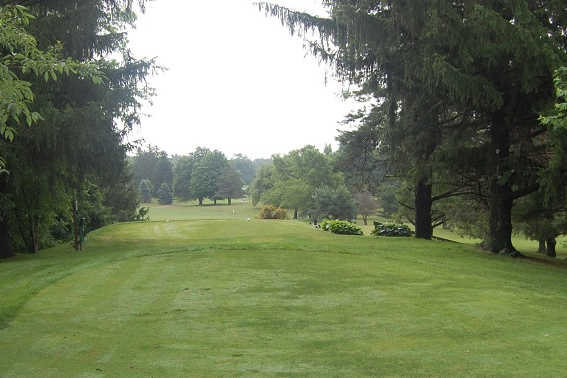 A view from a tee at Woodlawn Golf Club