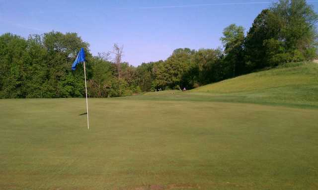 A view of hole #7 at Zumbrota Golf Club