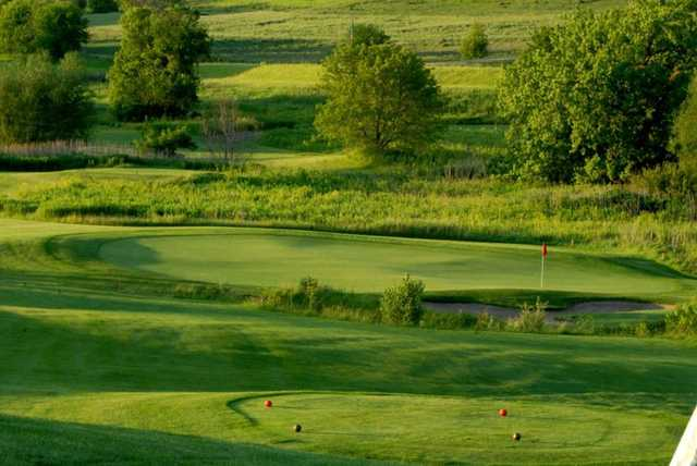 A view from a tee at Zumbrota Golf Club