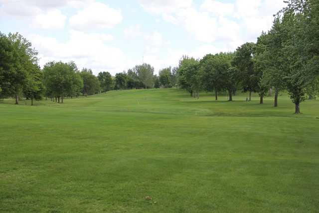 A view of a fairway at Granite Run Golf Course