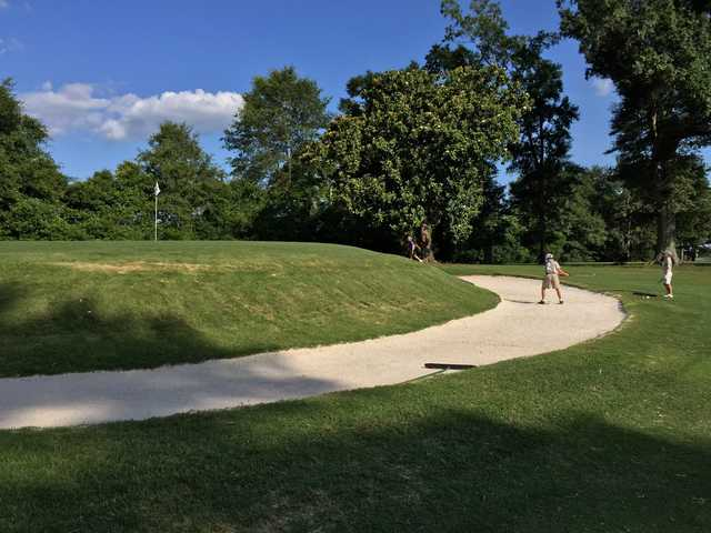 A view of a hole at Laurel Country Club