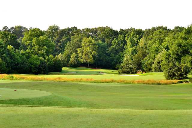A morning view from a tee at Old Waverly Golf Club