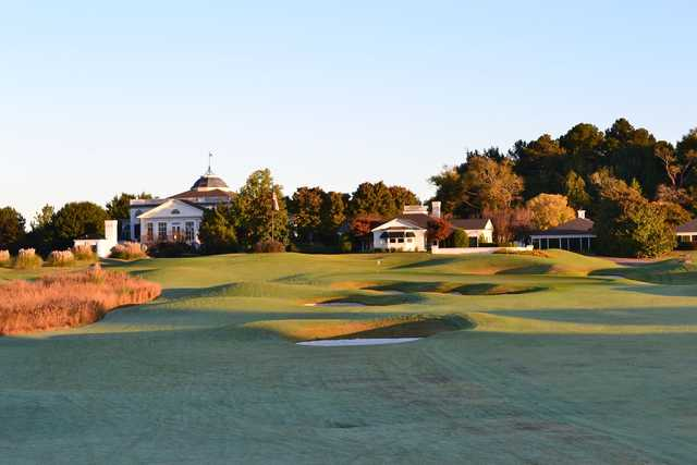 A view of a green at Old Waverly Golf Club