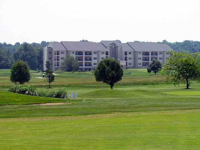 A view from Crown Pointe Golf Club