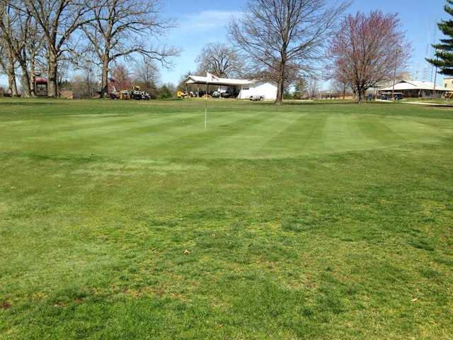 A view of a green from Miner Golf Course at Missouri University of Science and Technology