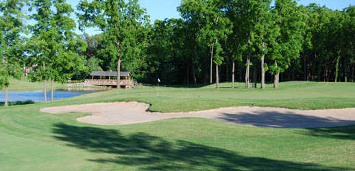 A view of a hole at Sawmill Golf Club