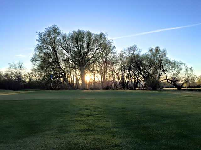 A peaceful view of a green at Green Meadow Country Club