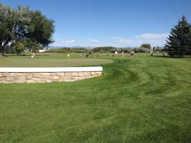 A view of the practice area at Green Meadow Country Club