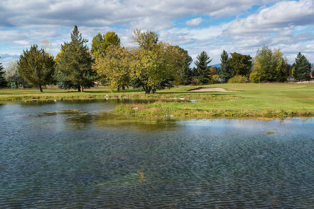 A view over the water from Par 3 at Fox Ridge Golf Course