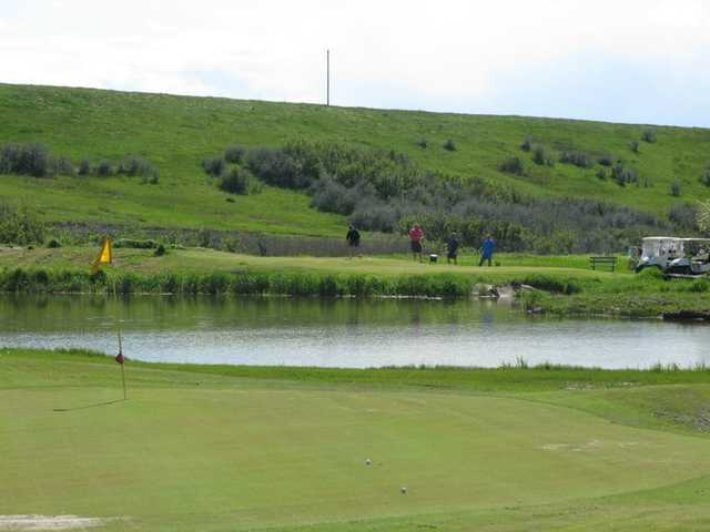 A view of the 13th hole at Judith Shadows Golf Course