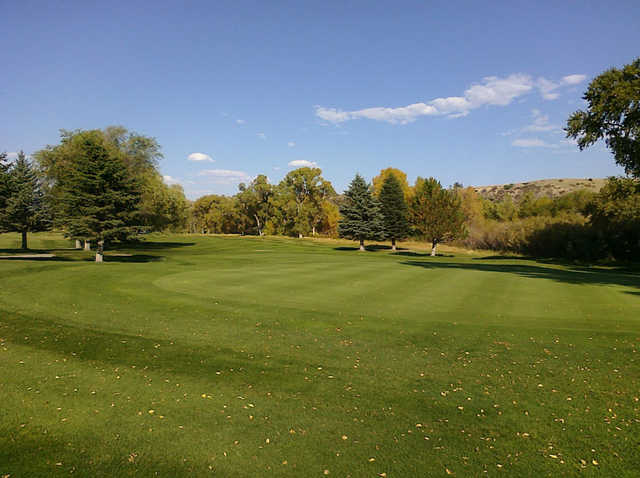 A view of green #5 at Livingston Golf & Country Club