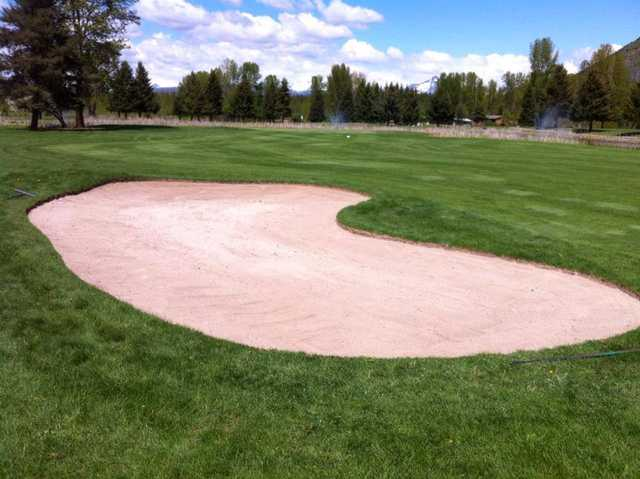 A view of fairway #10 at Glacier View Golf Club