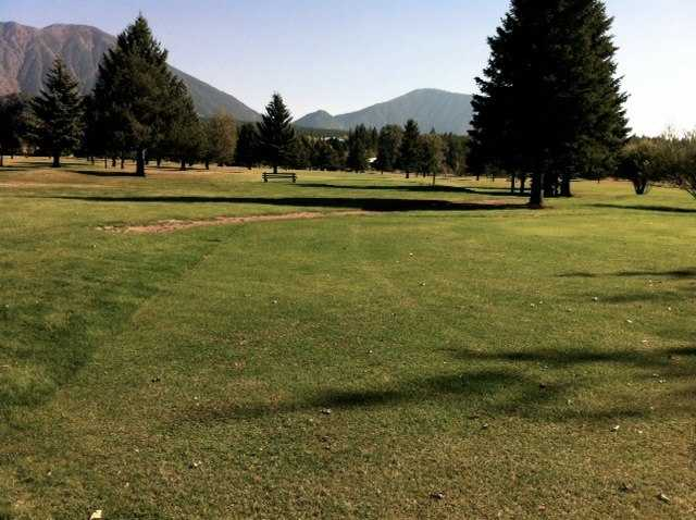 A view of green #7 at Glacier View Golf Club