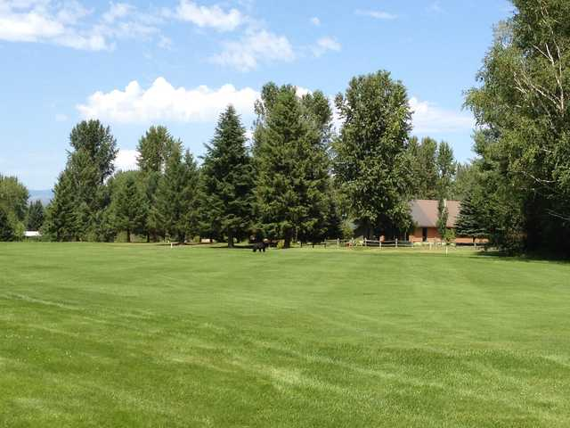 A view of fairway #18 at Glacier View Golf Club