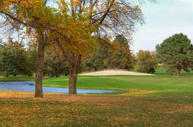 A view of the 8th green at Albion Country Club