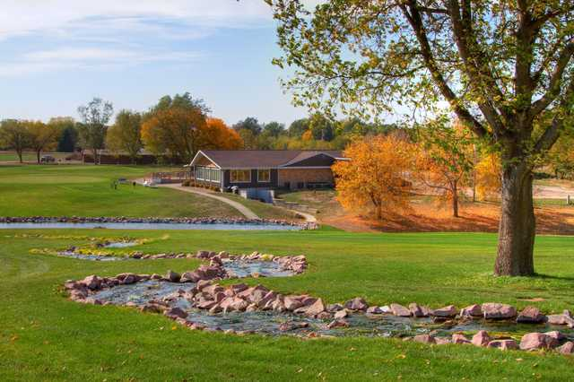 A view of hole #4 at Albion Country Club