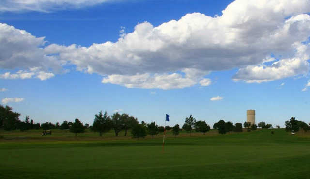 A view of a green at Sky View Golf Course.