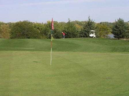 A view of hole #4 at Kirkman's Lakeview Golf Course