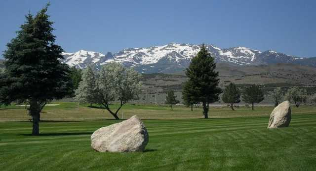 A view of a fairway at Chimney Rock Golf Course
