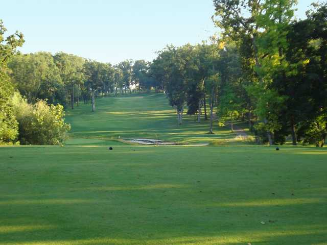 A view of green #16 at Foxford Hills Golf Club