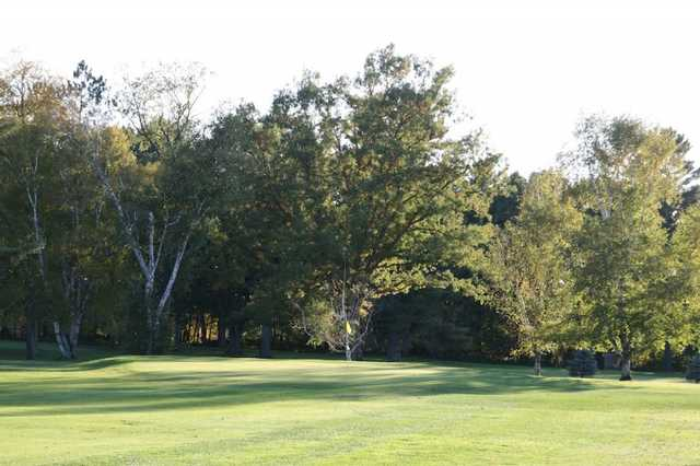 A view of hole #5 at Cadillac Country Club