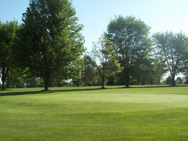 A view of a green at Caseville Golf Course