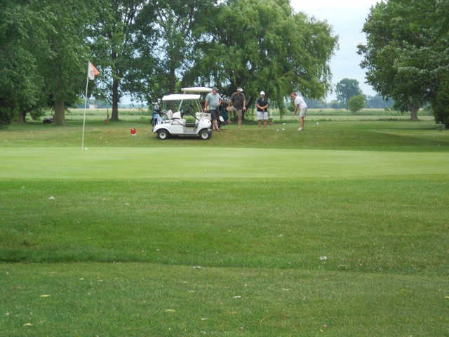 A view of a hole at Caseville Golf Course