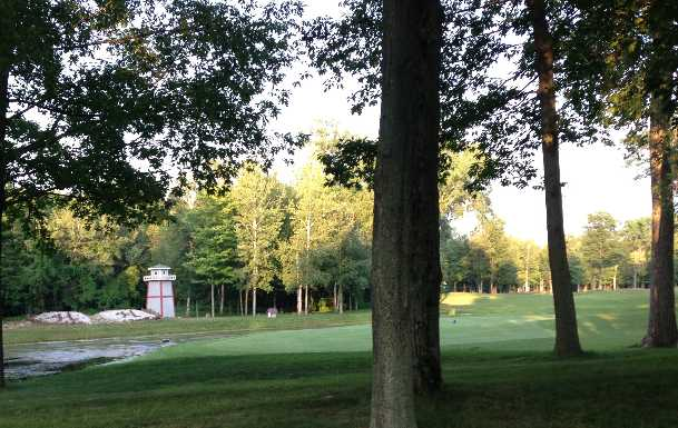 A view of a green at Hidden Harbour Golf Course